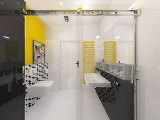 Aranżacja wnętrza mieszkania Nowoczesna łazienka od Free Form Pracownia Architektoniczna Nowoczesny