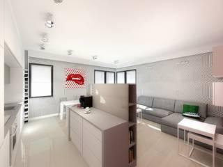 Aranżacja wnętrza mieszkania Nowoczesny salon od Free Form Pracownia Architektoniczna Nowoczesny