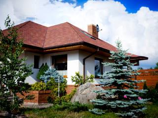 Dom Sandra G2 - stylowa elegancja i luksus przestrzeni we wnętrzu! : styl , w kategorii Domy zaprojektowany przez Pracownia Projektowa ARCHIPELAG,Klasyczny