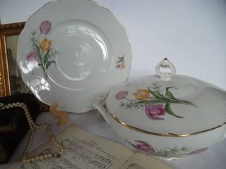 2 aufwändig dekorierte Serviceteile, wunderschönes böhmisches Porzellan Haas & Czjzek von Die Raritätenstöberei Landhaus Porzellan