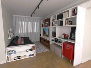 Sala de Estar / TV: Salas de estar  por Arquiteto em Casa
