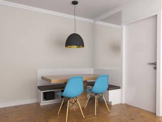 Sala de Jantar - canto alemão: Salas de jantar  por Arquiteto em Casa