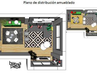 modern  by Buena Pieza Interiorismo, Modern