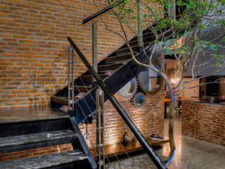 Recibidor Pasillos, vestíbulos y escaleras industriales de Con Contenedores S.A. de C.V. Industrial