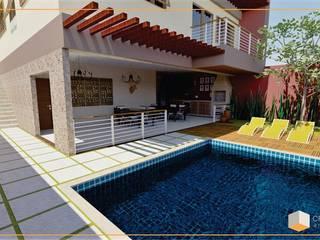 Residência ED Casas ecléticas por Cria Canto Arquitetura Eclético