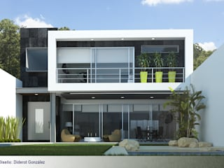 Casa en cuernavaca: Casas de estilo  por Global Render
