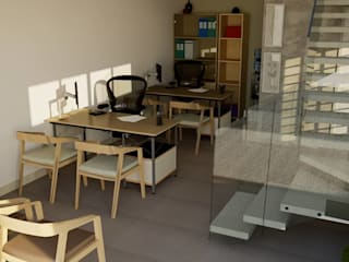 Escritório Atecol: Espaços comerciais  por Cria Canto Arquitetura