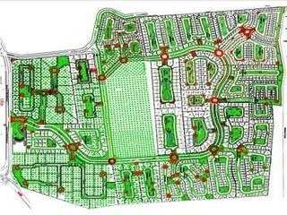 LAS VILLAS - DESARROLLO RESIDENCIAL: Jardines de estilo  por MARIO TALAMAS