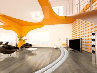 Livings de estilo moderno de Hain Parkett Moderno
