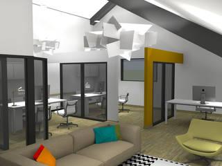 Bureau Locaux commerciaux & Magasin modernes par Agence 1+1 Moderne