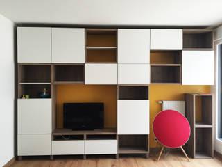 Projet SF Salon moderne par Agence 1+1 Moderne