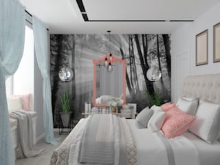 Chambre de style  par Студия дизайна Дарьи Одарюк,