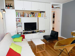 Appartement P Salon minimaliste par Agence 1+1 Minimaliste