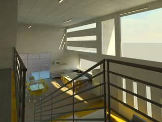 Vista interior cocina-comedor: Cocinas de estilo moderno por Perfil Arquitectónico