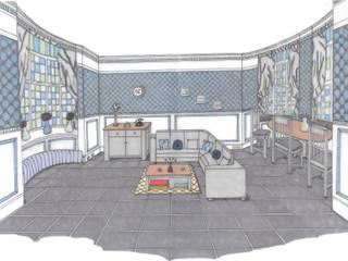 Georgian Mansion Living/Dining room:  Living room by L M B INTERIORS