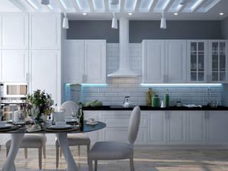 Mediterrane Küchen von Студия интерьерного дизайна happy.design Mediterran