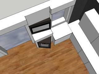 Progetto: Soggiorno in stile in stile Moderno di MateriaLab