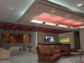 Interior 1: Salones para eventos de estilo  por HC Arquitecto