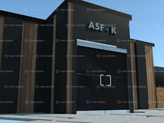 Remodelacion ASF - K de Mexico, AMSTEDRAIL Centros de convenciones de estilo minimalista de HC Arquitecto Minimalista