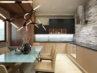 GraniStudio ห้องครัว Brown