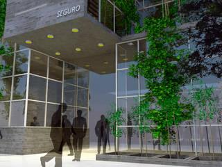 3D Edificio de oficinas: Estudios y oficinas de estilo minimalista por triAda