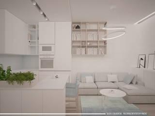 Kitchen by BAJOR&ORLIKOWSKA PRACOWANIA ARCHITEKTURY WNĘTRZ,
