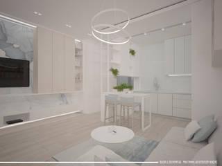 Mieszkanie pod wynajem 31m2: styl , w kategorii Kuchnia zaprojektowany przez BAJOR&ORLIKOWSKA PRACOWANIA ARCHITEKTURY WNĘTRZ