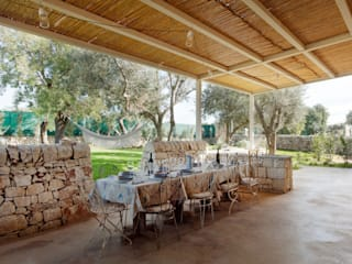 Country style dining room by BB Architettura del Paesaggio Country