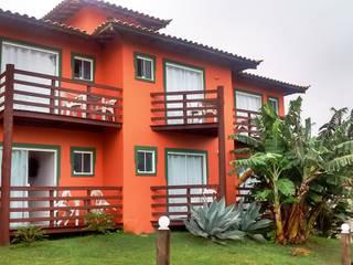 Terrazas de estilo  por Aroeira Arquitetura, Tropical