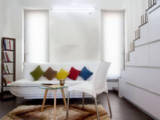 The Living Area Urban Shaastra Minimalist living room Multicolored
