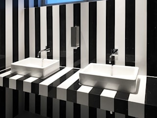 trend group Modern style bathrooms Tiles Black