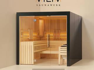 Massivholzsauna Viliv Komfort Plus Colorglas:   von Relagio.de