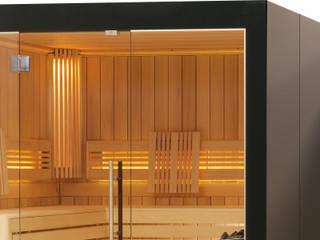 Kolorierte Glasverkleidung einer Viliv Sauna:   von Relagio.de