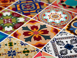 Talavera Traditional Tile Decals por MOONWALLSTICKERS.COM Mediterrânico