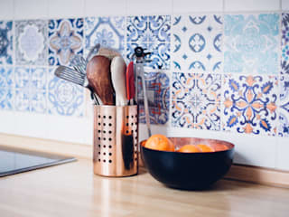 Portuguese Tile Stickers - Backsplash por MOONWALLSTICKERS.COM
