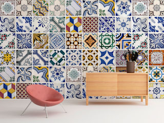 Portuguese Tiles Wall Art por MOONWALLSTICKERS.COM