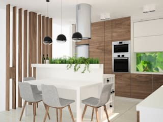 OES architekci Modern kitchen Wood Wood effect