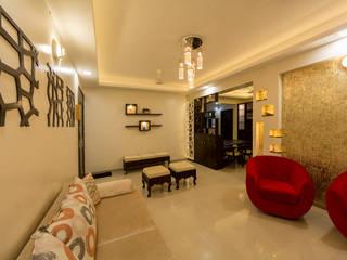 Living room:  Living room by Navmiti Designs