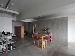 MORTAR POT Minimalist dining room by nuリノベーション Minimalist