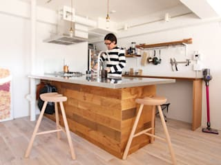 otokonoshiro Кухня в стиле минимализм от nuリノベーション Минимализм