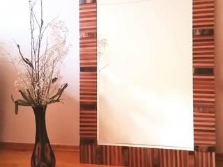 Dekoratif Rustik Özel Tasarım Duvar Aynası 34Concept Rustik