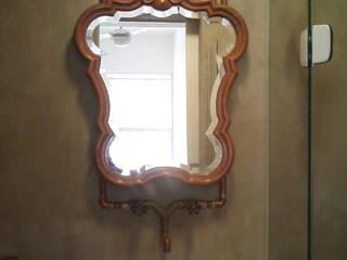 banheiro em cimento queimado: Banheiros  por Margareth Salles