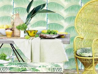 Wallpaper  Sanderson Voyage of Discovery Manila: styl , w kategorii Salon zaprojektowany przez stylowe tapety