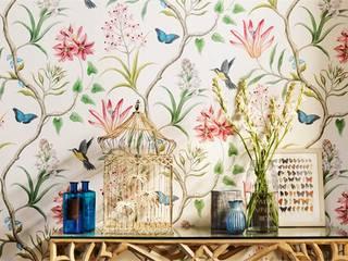 Wallpaper  Sanderson Voyage of Discovery Clementine -Chintz: styl , w kategorii Salon zaprojektowany przez stylowe tapety