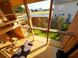 下古山・中庭のある家 オリジナルデザインの リビング の 中山大輔建築設計事務所/Nakayama Architects オリジナル