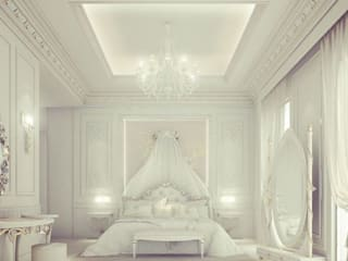 Exploring Luxurious Homes : Divine Bedroom Design IONS DESIGN Classic style bedroom Silver/Gold White