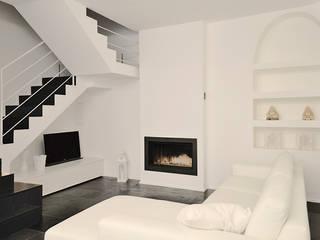 Casa a Novara Soggiorno moderno di Studio di Architettura Ortu Pillola e Associati Moderno