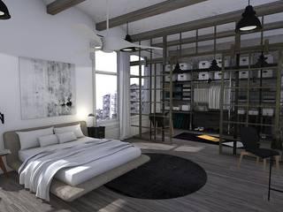 Blophome Camera da letto in stile industriale