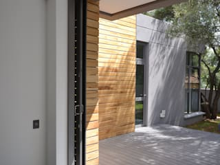 New residence Nieuwoudt Architects Scandinavian style houses Bricks Wood effect