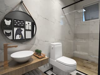 Bathroom by Studio M Arquitetura, Scandinavian